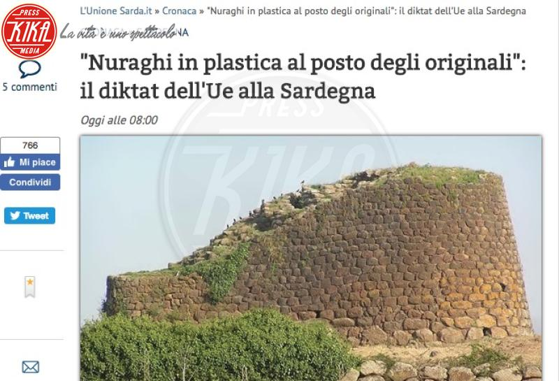 Nuraghi di plastica, Unione Sarda, Pesce d'aprile - Milano - 2018: i Pesci d'aprile più divertenti dell'anno
