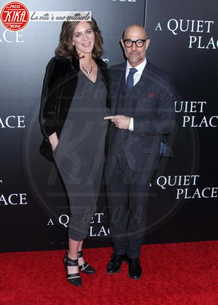 Felicity Blunt, Stanley Tucci - New York - 02-04-2018 - Tutti zitti! Emily Blunt e John Krasinski nel loro Quiet Place