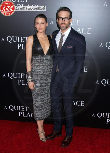 Blake Lively, Ryan Reynolds - New York - 02-04-2018 - Tutti zitti! Emily Blunt e John Krasinski nel loro Quiet Place