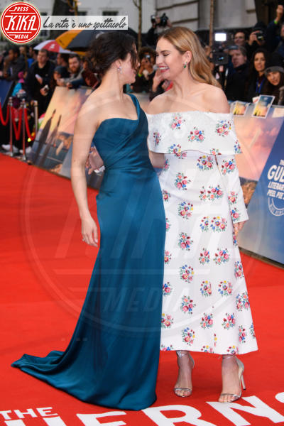 Lily James, Jessica Brown Findlay - Londra - 09-04-2018 - Jessica Brown Findlay e Lily James, reunion di Downton Abbey