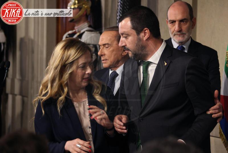 Giorgia Meloni, Matteo Salvini, Silvio Berlusconi - Roma - 12-04-2018 - Consultazioni, continua il braccio di ferro Di Maio-Salvini