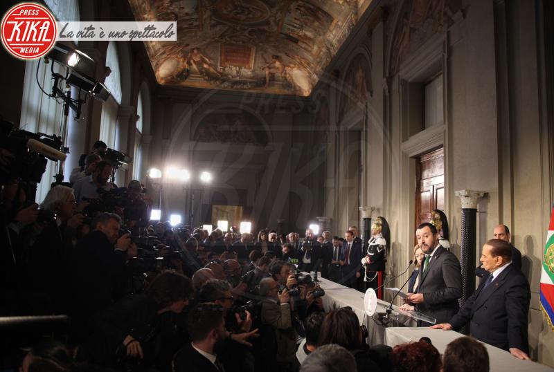 Matteo Salvini, Silvio Berlusconi - Roma - 12-04-2018 - Consultazioni, continua il braccio di ferro Di Maio-Salvini
