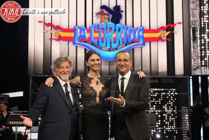 Pinuccio Pirazzoli, Ludovica Caramis, Carlo Conti - Roma - 13-04-2018 - Carlo Conti fa il boom di ascolti con La Corrida