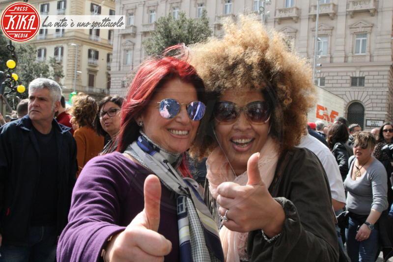 M'Barka Ben Taleb, Monica Sarnelli - Napoli - 14-04-2018 - Napoli in piazza dice