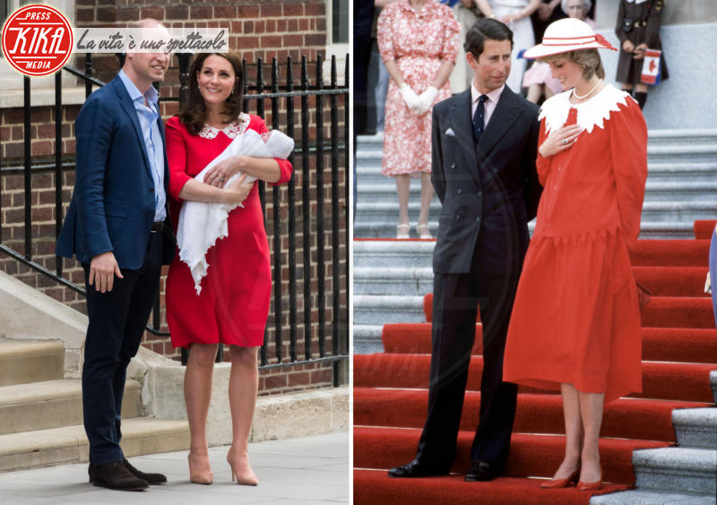 Principe Carlo d'Inghilterra, Principe William, Kate Middleton, Lady Diana - Kate Middleton, per il royal baby in rosso come Lady Diana