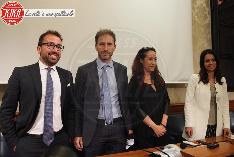 ENRICA SABATINI, Alfonso Bonafede, Davide Casaleggio, Paola Taverna - Roma - 11-05-2018 - Il Movimento 5 Stelle presenta a Roma lo Scudo della Rete