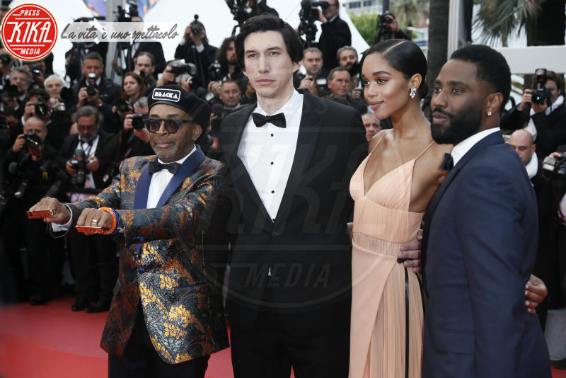 John David Washington, Laura Harrier, Adam Driver, Spike Lee - Cannes - 14-05-2018 - Cannes 2018, Spike Lee fa il pieno di bellezza sulla Croisette