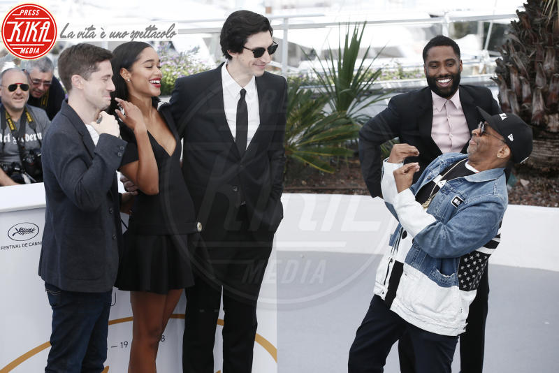 John David Washington, Laura Harrier, Adam Driver, Damaris Lewis, Topher Grace, Spike Lee - Cannes - 15-05-2018 - Cannes 2018: terremoto Spike Lee sulla Croisette