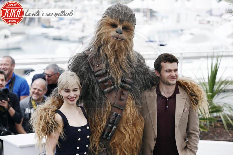 Emilia Clarke, Alden Ehrenreich, Chewbacca - Cannes - 15-05-2018 - Cannes 2018: Hollywood si trasferisce sulla Croisette per Solo