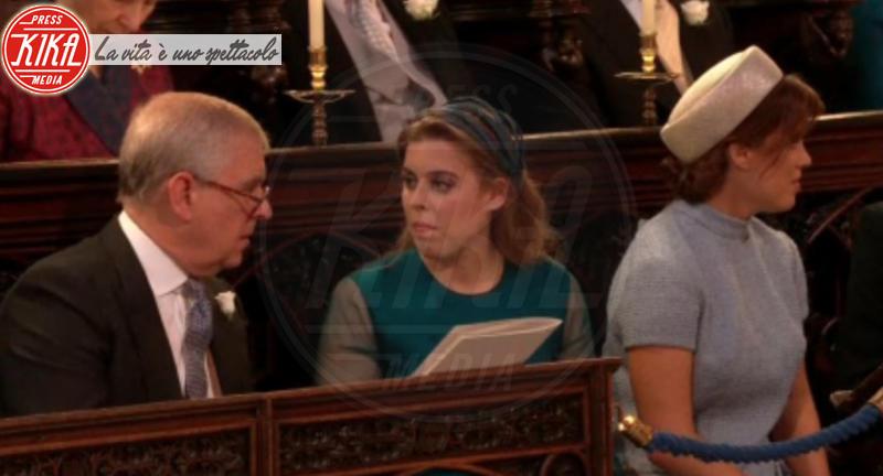 Principessa  Beatrice di York, Principe Andrea Duca di York, Principessa Eugenia di York - 19-05-2018 - Royal Wedding, gli ospiti: Amal Clooney è in giallo
