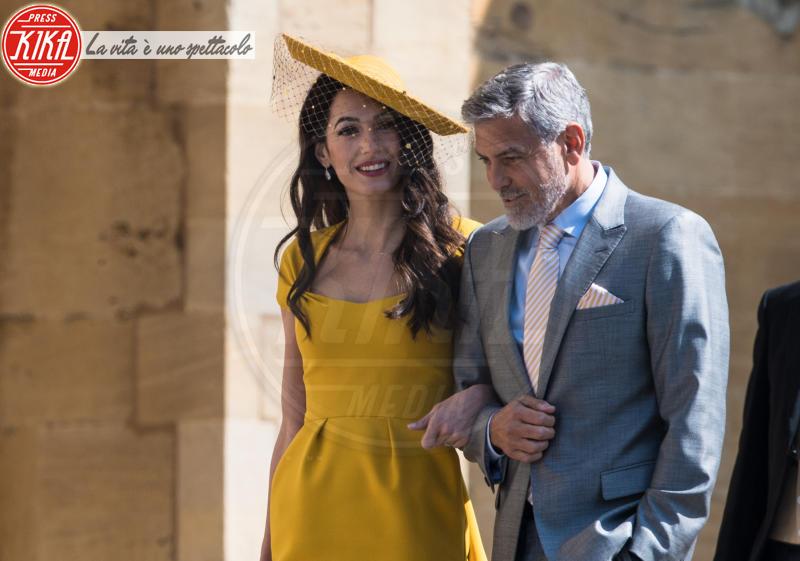 Amal Clooney, George Clooney - Windsor - 19-05-2018 - Royal Wedding, gli ospiti: Amal Clooney è in giallo