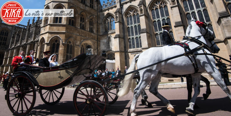 Meghan Duchess of Sussex, Harry Duke of Sussex, Prince Harry, Meghan Markle - Windsor - 19-05-2018 - Royal Wedding, gli ospiti: Amal Clooney è in giallo