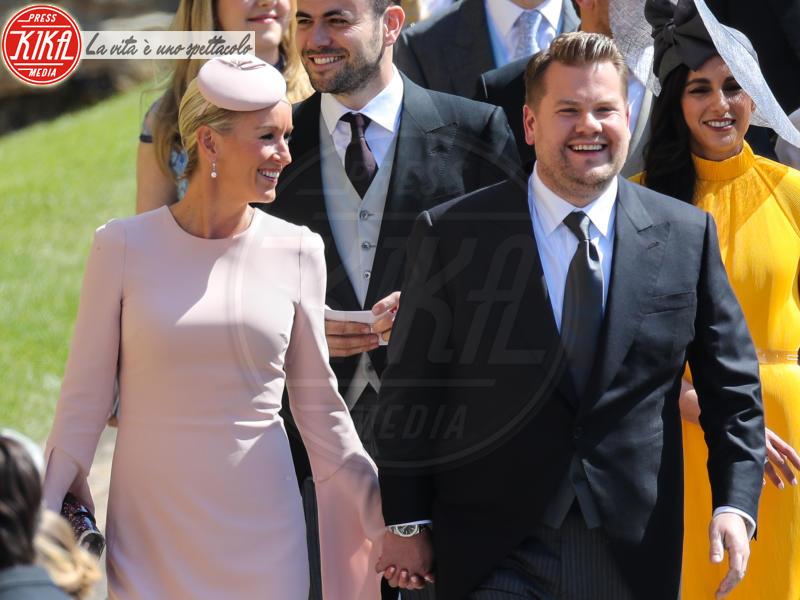 Julia Carey, James Corden - Windsor - 19-05-2018 - Royal Wedding, gli ospiti: Amal Clooney è in giallo