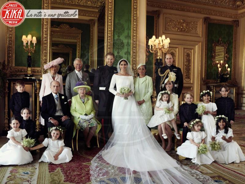 Principessa Charlotte Elizabeth Diana, Principe George, Meghan Markle, Principe Carlo d'Inghilterra, Regina Elisabetta II, Principe William, Kate Middleton, Principe Filippo Duca di Edimburgo, Camilla Parker Bowles, Principe Harry - Windsor - 21-05-2018 -