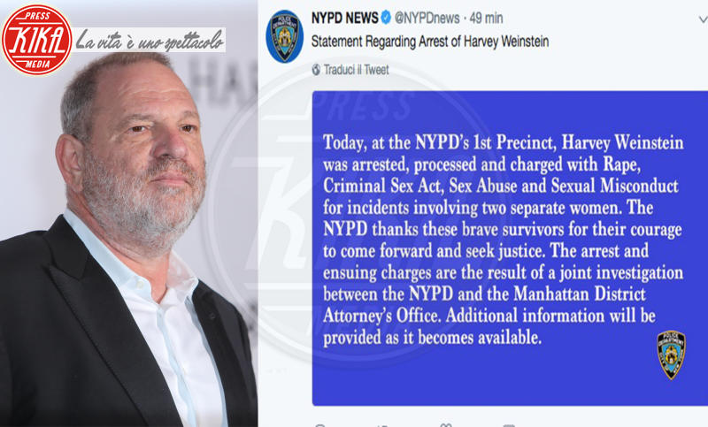 Harvey Weinstein - 25-05-2018 - Harvey Weinstein si è costituito: ecco le immagini
