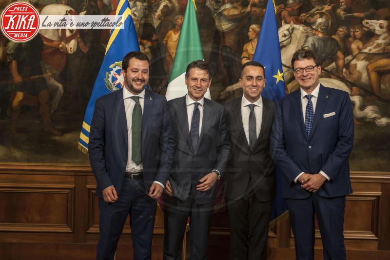 Giuseppe Conte, Giancarlo Giorgetti, Luigi Di Maio, Matteo Salvini - Roma - 01-06-2018 - Emma in lacrime risponde agli insulti: