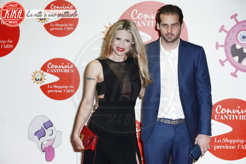 Tomaso Trussardi, Michelle Hunziker - Milano - 05-06-2018 - Convivio 2018: Palmas-Magnini, una coppia al bacio
