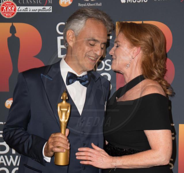 Andrea Bocelli, Sarah Ferguson - Londra - 13-06-2018 - Classic Brit Awards, Sarah di York premia Andrea Bocelli