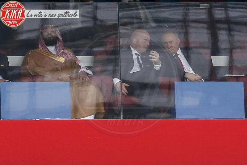 Gianni Infantino, Vladimir Putin - Mosca - 14-06-2018 - Russia 2018: inaugurazione nel segno di Robbie Williams