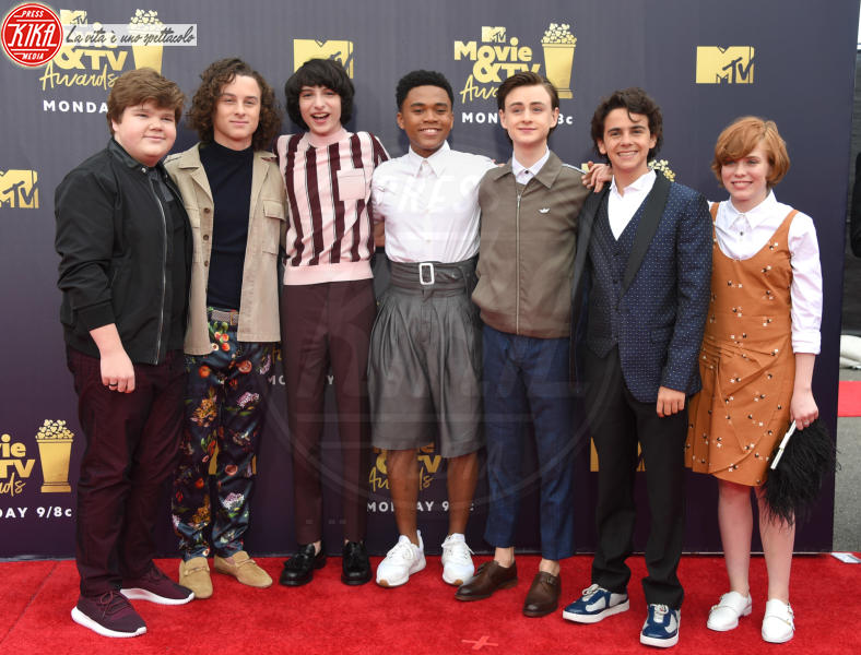Jeremy Ray Taylor, Chosen Jacobs, Wyatt Oleff, Finn Wolfhard, Ja - Santa Monica - 16-06-2018 - Mtv Movie & Tv Awards: irriconoscibile Hannah Baker