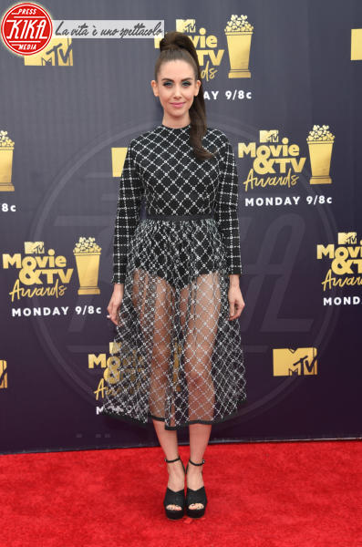 Alison Brie - Santa Monica - 16-06-2018 - Mtv Movie & Tv Awards: irriconoscibile Hannah Baker