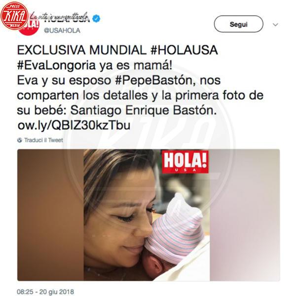 Santiago Enrique Baston, Eva Longoria - 20-06-2018 - Eva Longoria è mamma! La prima foto col suo Santiago