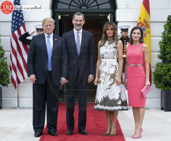 Melania Trump, Re Felipe di Borbone, Letizia Ortiz, Donald Trump - Washington - 19-06-2018 - La regina Letizia e Melania Trump: chi lo indossa meglio?