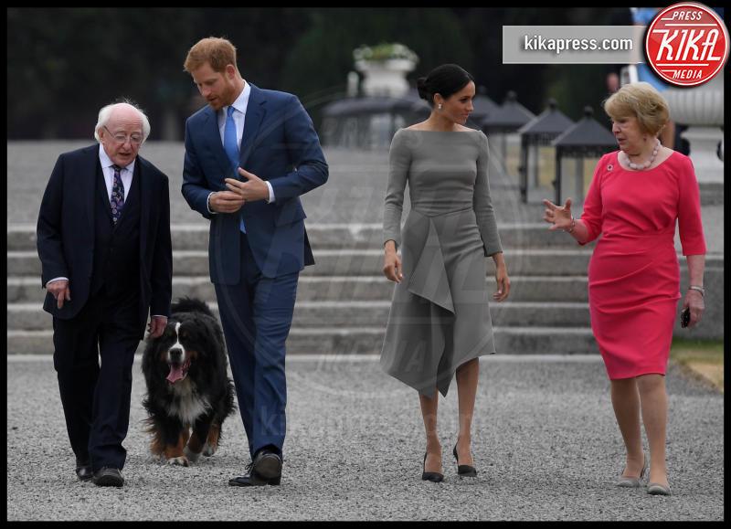 Sabina Coyne, Michael Higgins, Meghan Markle, Principe Harry - Dublino - 11-07-2018 - Meghan Markle e Jennifer Garner: chi lo indossa meglio?
