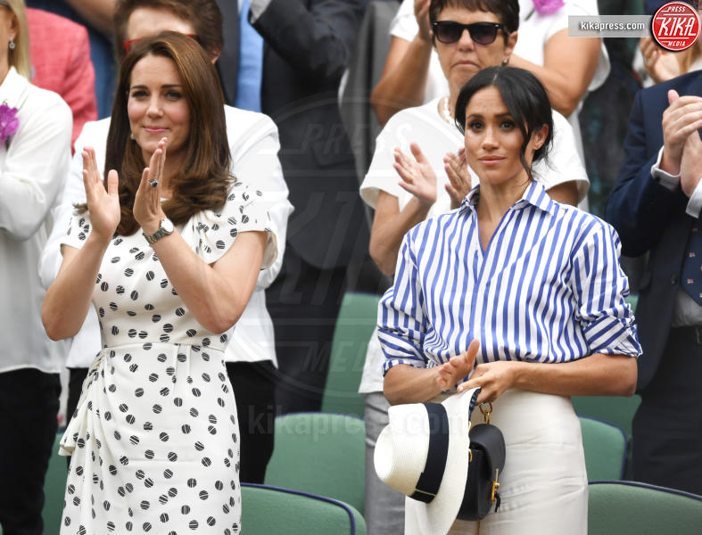Meghan Markle, Kate Middleton - Wimbledon - 14-07-2018 - Meghan e Kate, le principesse dai pois... low cost!