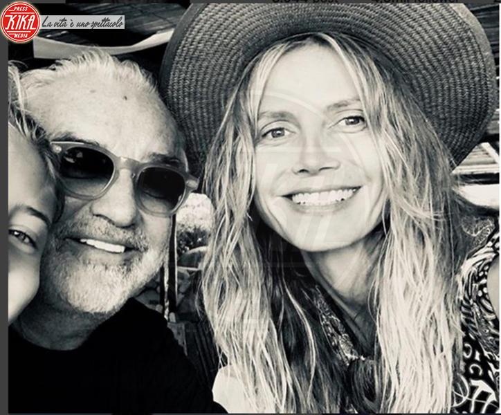 Leni Samuel, Flavio Briatore, Heidi Klum - Milano - 30-07-2018 - Le star che non sapevi avessero avuto figli in tarda età