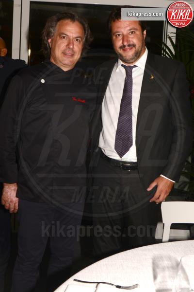 Matteo Salvini, Elisa Isoardi - Venezia - 29-08-2018 - Venezia 75: Salvini-Isoardi, la cena a lume di candela
