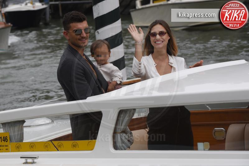 Bianca Fantini, Beatrice Valli, Marco Fantini - Venezia - 01-09-2018 - Venezia 75: Beatrice Valli, al Lido con Marco e Bianca