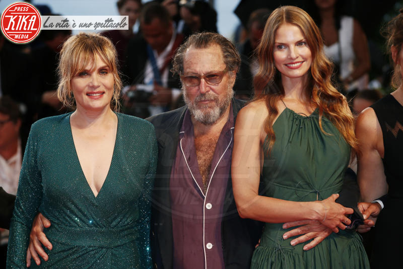 Louise Kugelberg, Emmanuelle Seigner, Julian Schnabel - Venezia - 03-09-2018 - Venezia 75: Willem Dafoe, red carpet alla Van Gogh
