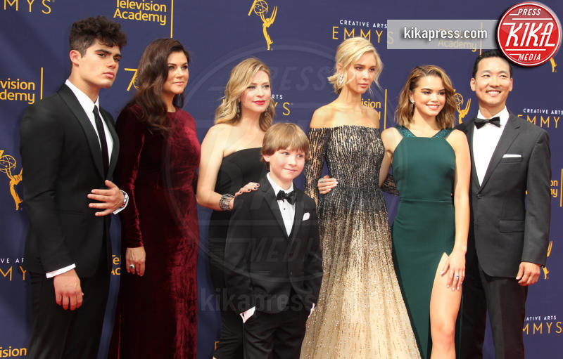 Eddie Shin, Finn Carr, Jolie Jenkins, Isabel May, Emery Kelly, Paris Berelc, Tiffani Thiessen - Los Angeles - 08-09-2018 - Creative Art Emmy Awards: tra gli ospiti Monica Lewinsky