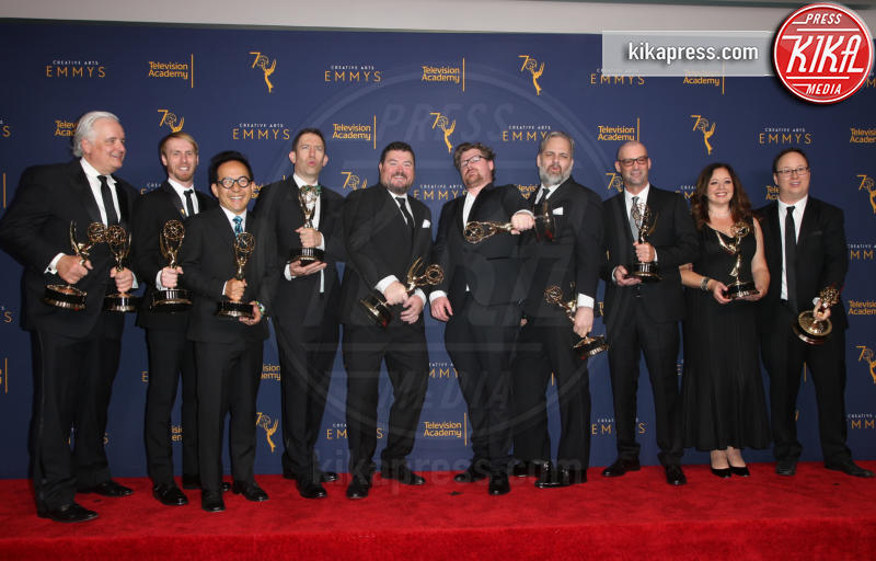winners of the award for outstanding animated program, Morty&#39, episode of &#39, Pickle Rick&#39, The team from the &#39, Rick - Los Angeles - 09-09-2018 - Creative Art Emmy Awards: tra gli ospiti Monica Lewinsky