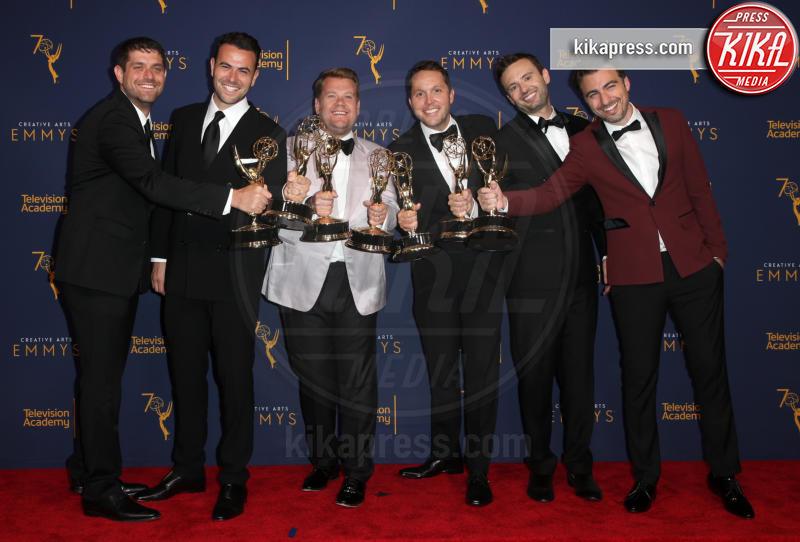 Ryan McKee, Adam Abramson, David LaMattina, Rob Crabbe, Ben Winston, James Corden - Los Angeles - 09-09-2018 - Creative Art Emmy Awards: tra gli ospiti Monica Lewinsky