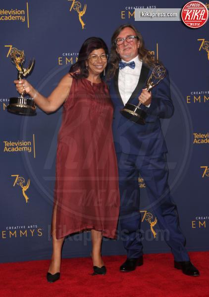 Delna Bhesania, Barry Ward - Los Angeles - 09-09-2018 - Creative Art Emmy Awards: tra gli ospiti Monica Lewinsky