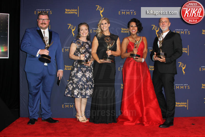 Massimo Gattabrusi, Helena Cepeda, Shay Sanford-Fong, Natalie Driscoll, Chris Clark - Los Angeles - 08-09-2018 - Creative Art Emmy Awards: tra gli ospiti Monica Lewinsky
