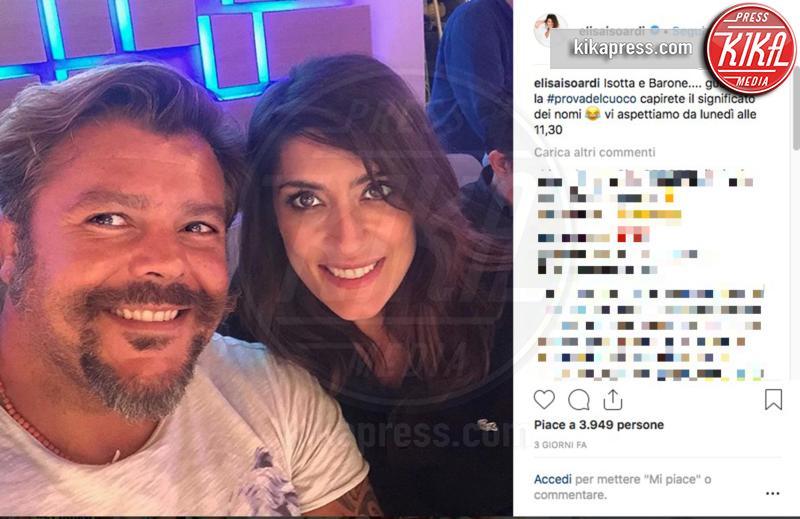 Andrea Lo Cicero, Elisa Isoardi - 10-09-2018 -  Isoardi alla Prova del Cuoco: gli auguri speciali di Salvini