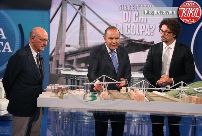Remo Calzona, Danilo Toninelli, Bruno Vespa - Roma - 12-09-2018 - Toninelli tuona sulla ricostruzione del Ponte Morandi