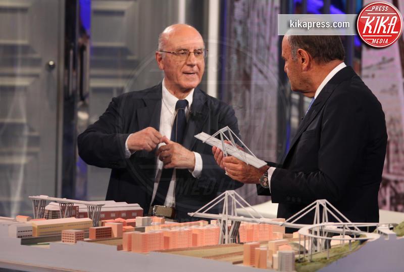 Remo Calzona, Bruno Vespa - Roma - 12-09-2018 - Toninelli tuona sulla ricostruzione del Ponte Morandi