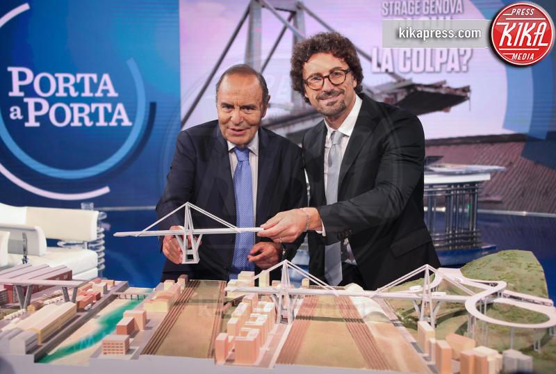 Danilo Toninelli, Bruno Vespa - Roma - 12-09-2018 - Toninelli tuona sulla ricostruzione del Ponte Morandi
