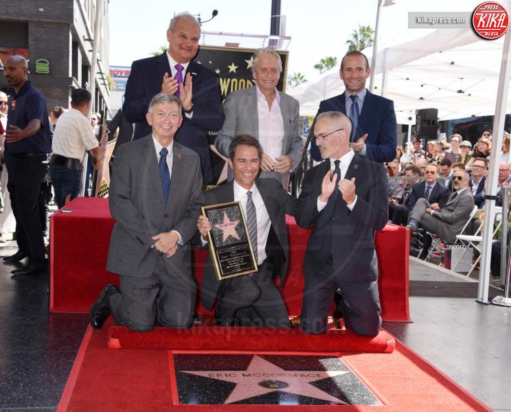 Max Mutchnick, Mitch O'Farrell, Leron Gubler, Eric McCormack, Michael Douglas - Hollywood - 13-09-2018 - Will&Grace, Eric McCormack: un'altra stella sulla Walk of Fame