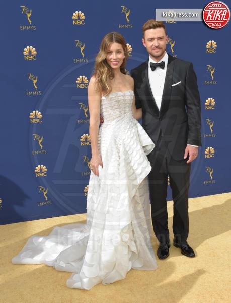 Jessica Biel, Justin Timberlake - Los Angeles - 18-09-2018 - Emmy 2018: le coppie sul tappeto dorato