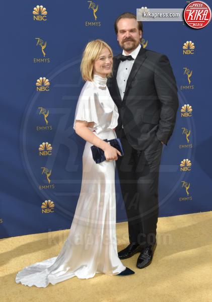 Allison Pill, David Harbour - Los Angeles - 18-09-2018 - Emmy 2018: le coppie sul tappeto dorato