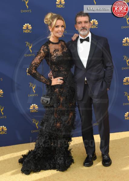 Nicole Kimpel, Antonio Banderas - Los Angeles - 17-09-2018 - Emmy 2018: le coppie sul tappeto dorato