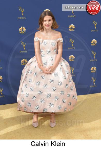 Millie Bobby Brown - Los Angeles - 17-09-2018 - Emmy 2018, gli stilisti sul tappeto dorato