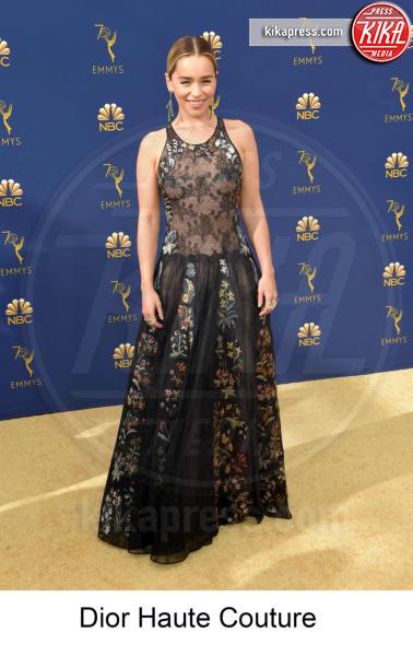Emilia Clarke - Los Angeles - 17-09-2018 - Emmy 2018, gli stilisti sul tappeto dorato