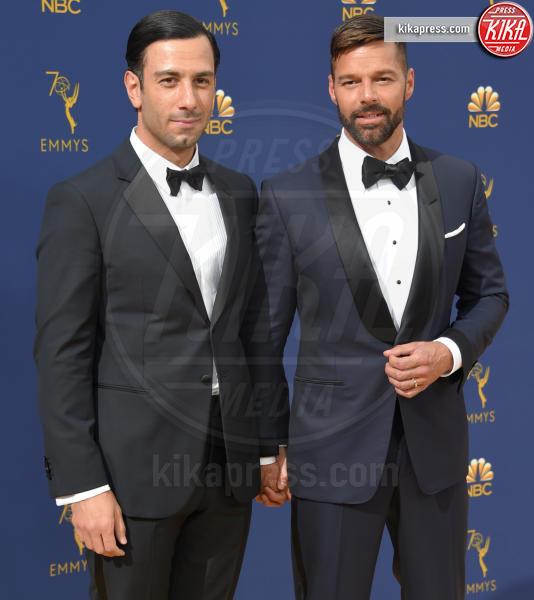 Jwan Yosef, Ricky Martin - Los Angeles - 17-09-2018 - Emmy 2018: le coppie sul tappeto dorato