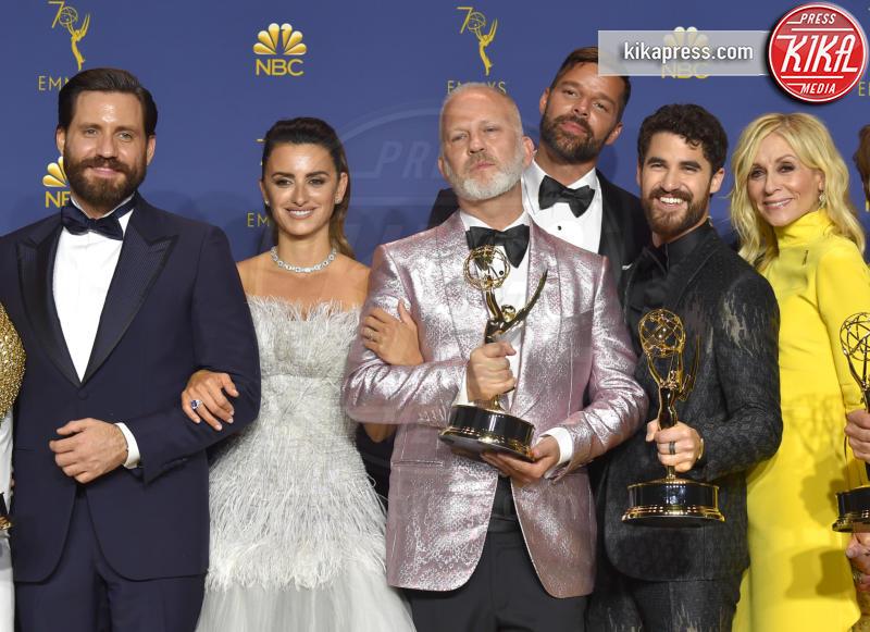 Darren Criss, Edgar Ramirez, Ryan Murphy, Judith Light, Penelope Cruz, Ricky Martin - Los Angeles - 18-09-2018 - Emmy 2018: trionfa La fantastica signora Maisel